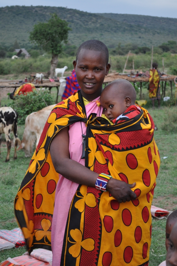 Maasai Mother holds child
