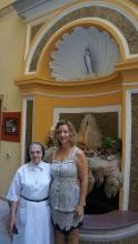 Sister Leopoldina and Carole