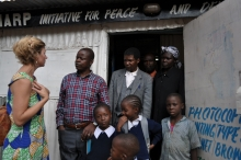 Carole with PHARP Initiative for Peace, Kibera, Kenya
