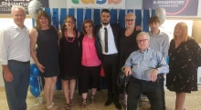 Linda, Yacoub and friends at Yacoub's high school graduation